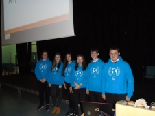 The Scottish youth participants present at local High School.