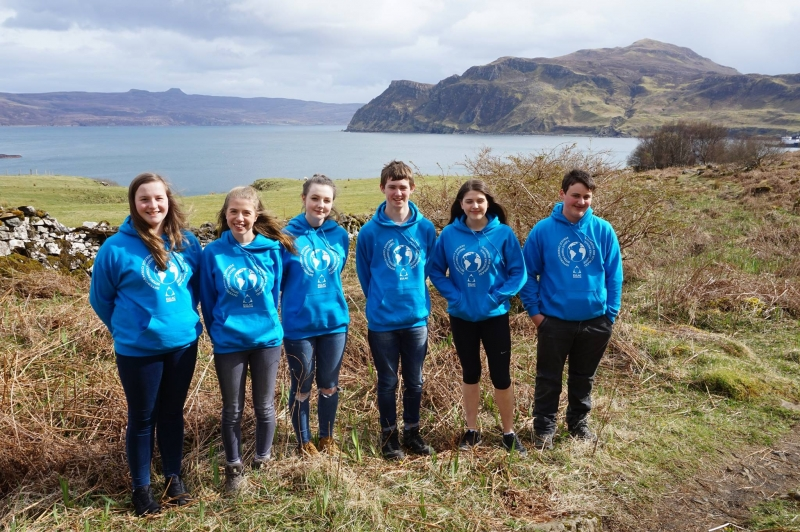 Scottish youth participants walk through Toravaig, Isle of Skye