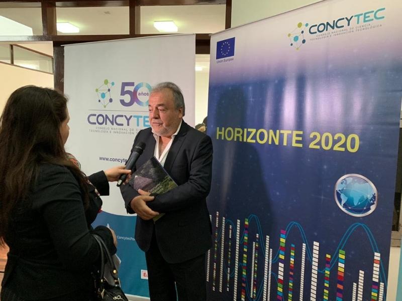 Presentación de Luis Repetto investigador del equipo peruano del proyecto EULAC Museos y Comunidades en el Taller de inducción programa Horizonte 2020