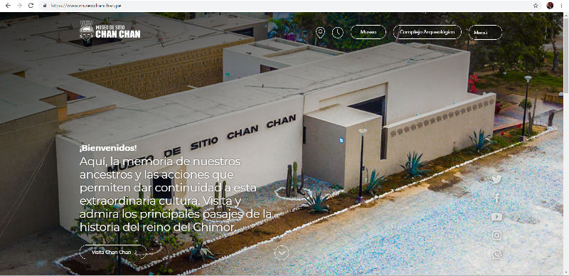 PÁGINA WEB MUSEO DE CHAN CHAN CHAN CHAN MUSEUM WEBSITE