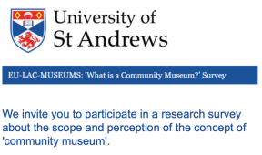 "Results from our ""What is a community museum in your region?"" Survey"